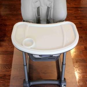 36 by 48 Rectangular High Chair Mat (with high chair)1